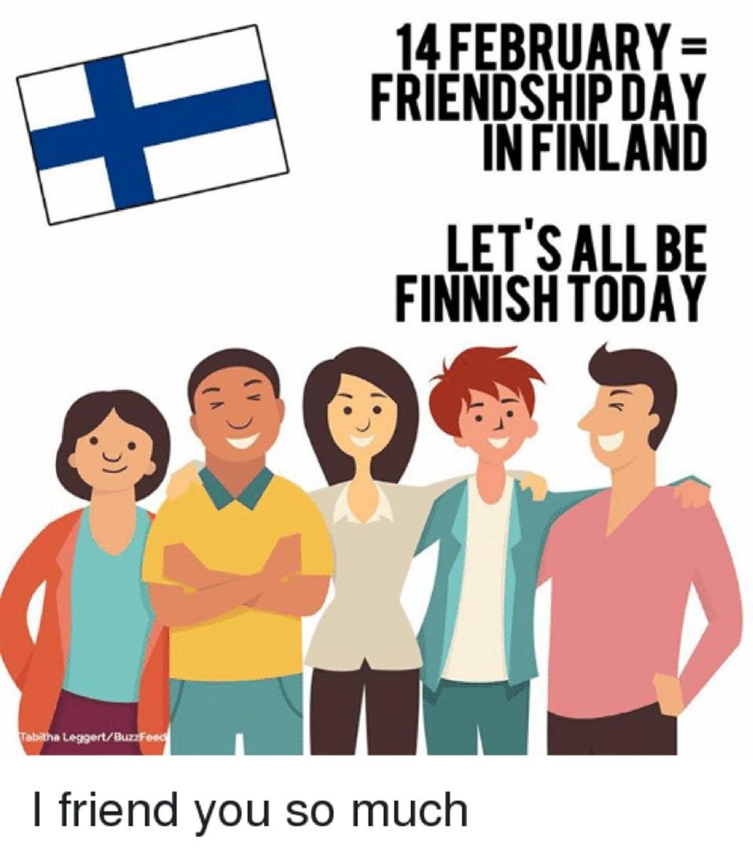 Bildresultat för vänskapskort finland 14 februari